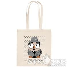 ЭКО-сумка с совой Чаплин