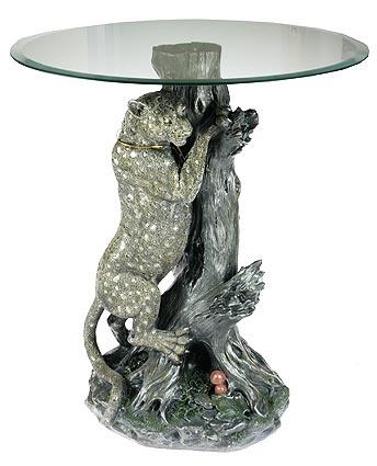 Декоративная композиция-столик Леопард