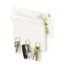 Белый держатель для ключей и писем Magnetter
