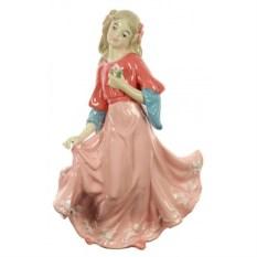 Фарфоровая статуэтка Девушка с цветком