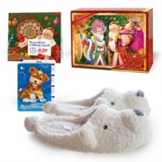 Подарочный набор с тапочками «Медвежата»