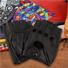Кожаные черные перчатки для вождения из коллекции G.Ferretti