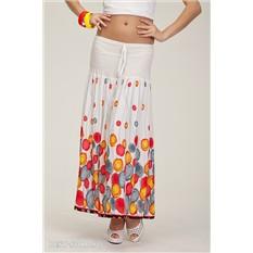 Белая удлиненная юбка