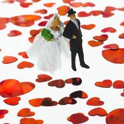 Свадебные фигурки 3DYA (цветные, 17 см)