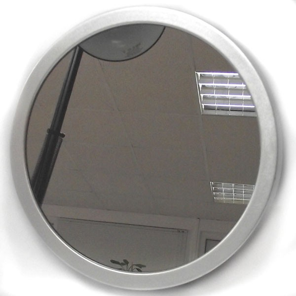 Круглое зеркало с часами