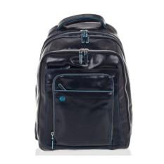 Большой темно-синий рюкзак для ноутбука Piquadro Blue Square