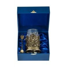 Синий набор для чая руководителю Лев