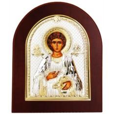 Икона в Серебряном окладе Пантелеймон Целитель