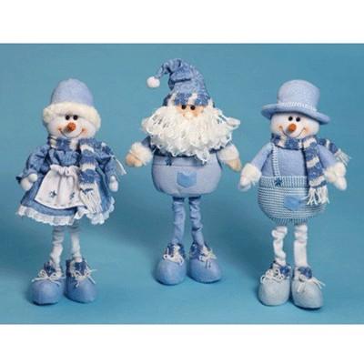Фигурки Санта и снеговик