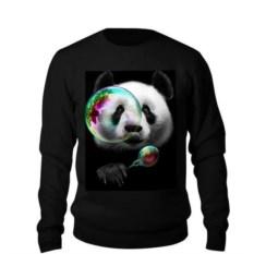 Свитшот Панда с мыльными пузырями