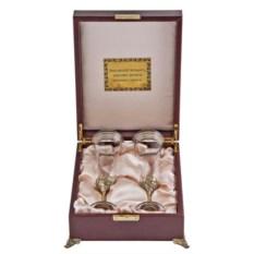 Набор из 2-х бокалов для шампанского в футляре Богемия