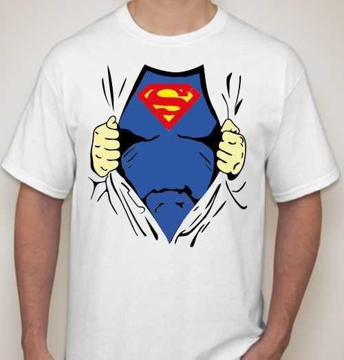 Мужская футболка Супермен (под майкой)