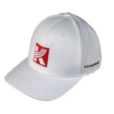 Белая кепка Flexfit с логотипом Калашников