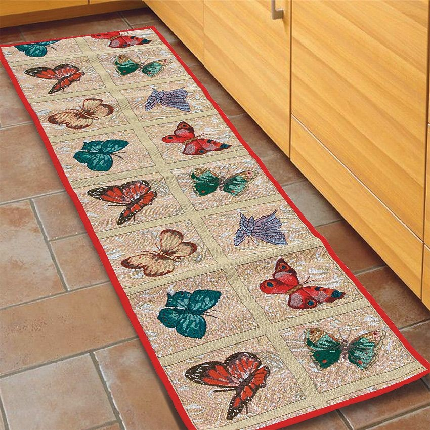 Кухонный коврик Бабочки (Размер : 50x180 см)