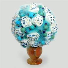 Цветы из бирюзы Свадебные