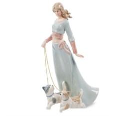 Фарфоровая статуэтка Дама с собаками Pavone