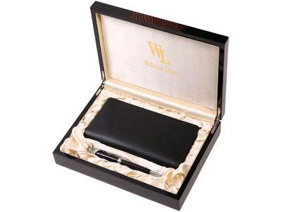 Набор аксессуаров, ручка и трэвел-портмоне на молнии (кожа)