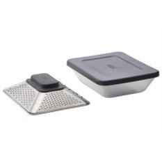 Терка 4 в 1 с контейнером для хранения и крышкой Prism box