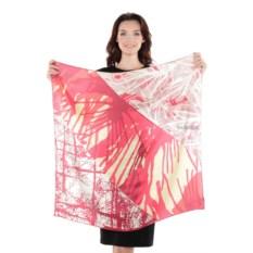 Бежево-розовый женский платок Frantelli