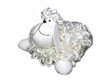 Игрушка Лохматая овечка, белая