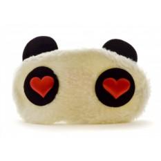 Махровая маска для сна Панда