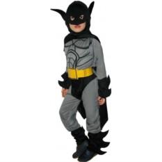 Детский карнавальный костюм Бэтмен с желтым поясом