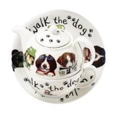 Фарфоровый чайник на одного Собаки модники