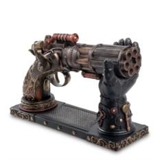 Статуэтка в стиле стимпанк Револьвер на подставке