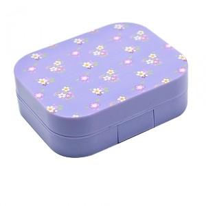 Контейнер для контактных линз Printed cotton − Purple