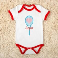 Детское именное боди «Будущее тенниса»