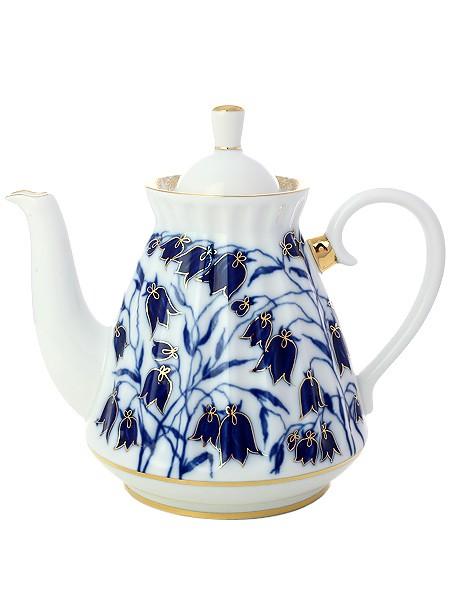 Заварочный фарфоровый чайник Колокольчики