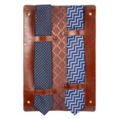 Коричневый чехол для галстуков Alessandro Venanzi