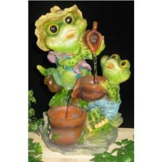 Декоративный фонтан Лягушка и лягушонок