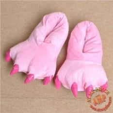 Розовые тапки Лапы с когтями