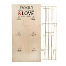 Панно-держатель для фотографий Family&Love
