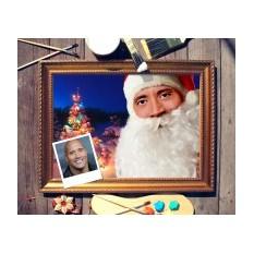 Новогодний портрет по фото Дед Мороз