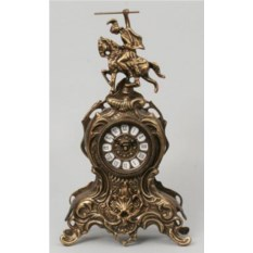 Оригинальные часы из бронзы Всадник