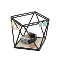 Низкий черный органайзер для украшений Prisma