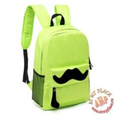Зеленый рюкзак Mustache