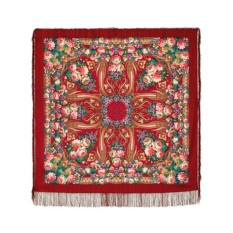 Павловопосадский шерстяной платок Именинница
