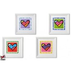 Постер Britto в деревянной рамке, коллекция Hearts