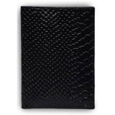 Кожаная черная обложка для автодокументов