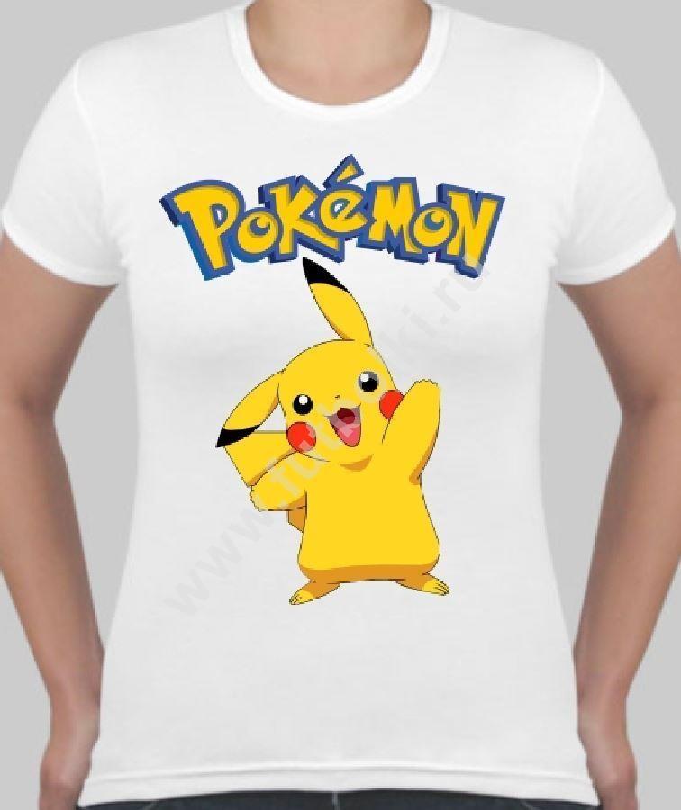 Женская футболка с покемоном Пикачу