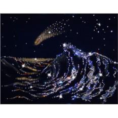 Картина с кристаллами Сваровски Волна