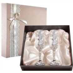 Набор свадебных бокалов №50 в подарочной коробке