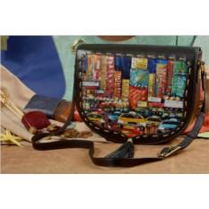 Женская кожаная сумка-седло Мегаполис