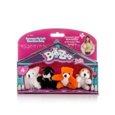 Игровой набор Beanzeez Мышка, котик, медведь, песик