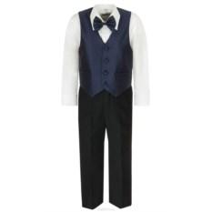 Черно-синий костюм для мальчика M&D