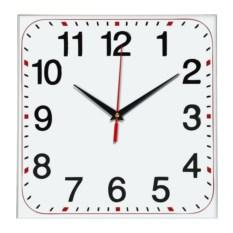 Настенные квадратные часы с крупными цифрами