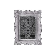 Серебристая рамка для фото Дворцовый стиль